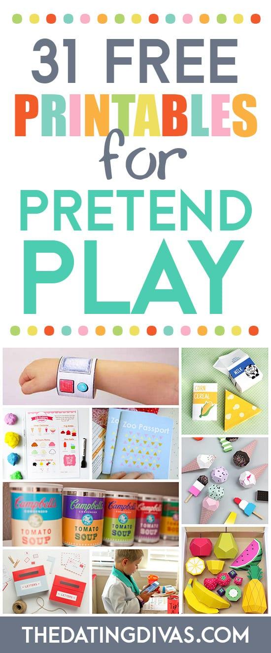 31 FREE Printables for Pretend Play