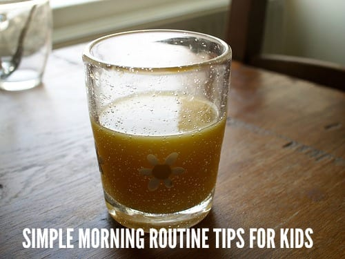 Simple Morning Routine Tips for Kids