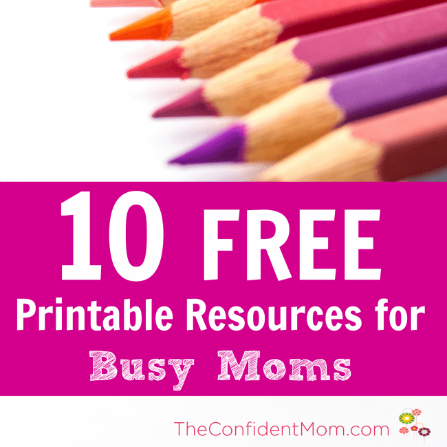FREE Printables and Planning Resources for Busy Moms