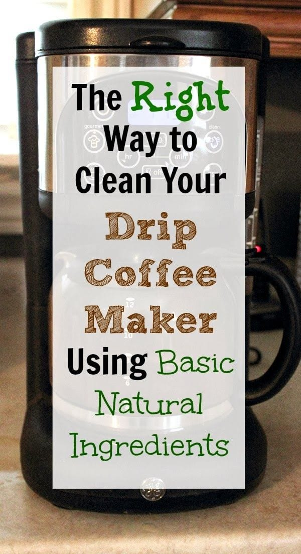 Cleaning Your Coffee Maker Naturally via The Creek Line House