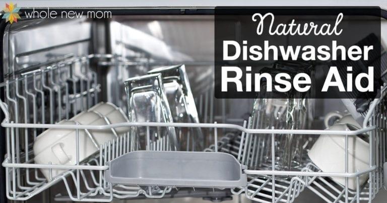 Natural Dishwasher Rinse Aid via Whole New Mom