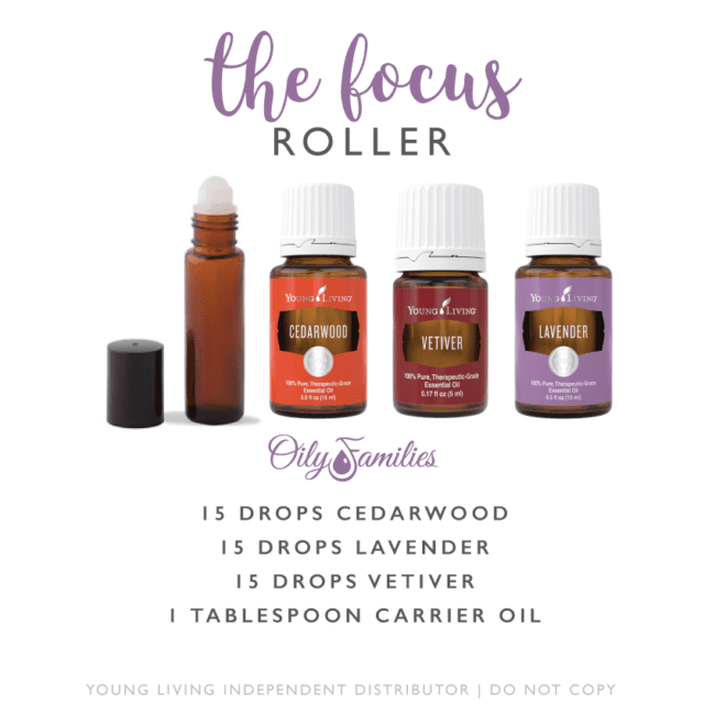 the focus roller - cedar wood, vetiver, lavender essential oils