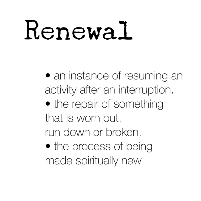 renewal - word for the year