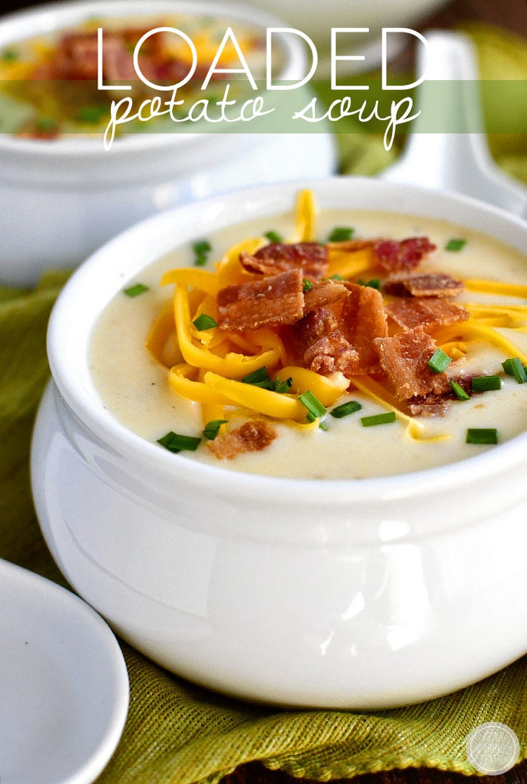 Loaded Potato Soup via Iowa Girl Eats