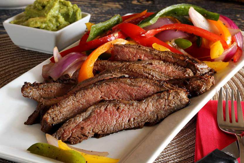 Balsamic Marinated Flank Steak with Grilled Peppers via Paleo Newbie