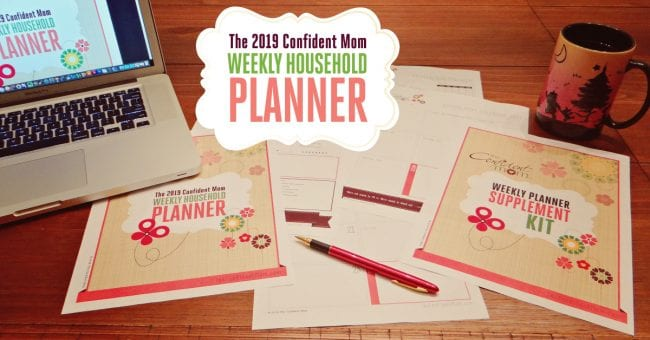 2019 Weekly Household Confident Mom Planner