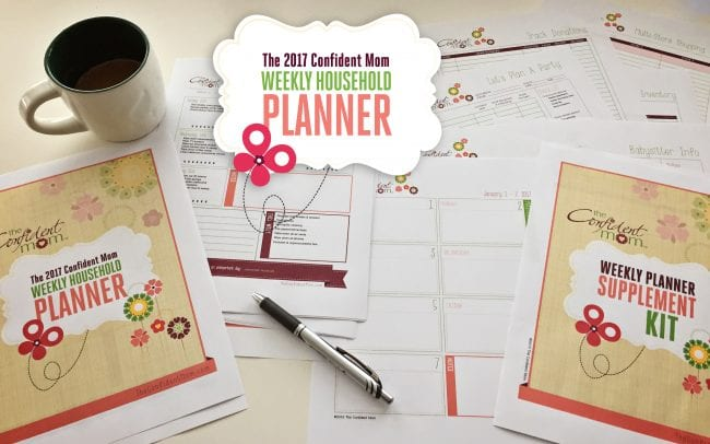 2017 Confident Mom Weekly Household Planner