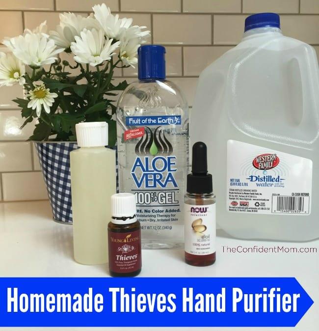 Homemade Thieves Hand Purifier