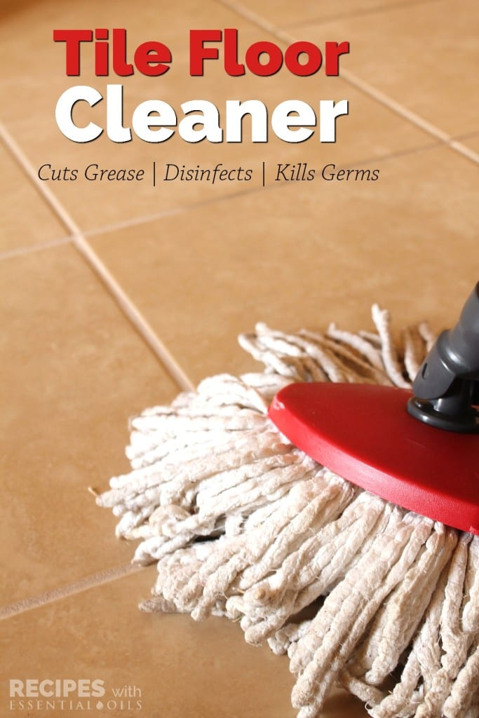 Homemade Tile Floor Cleaner via Recipes with Essential Oils