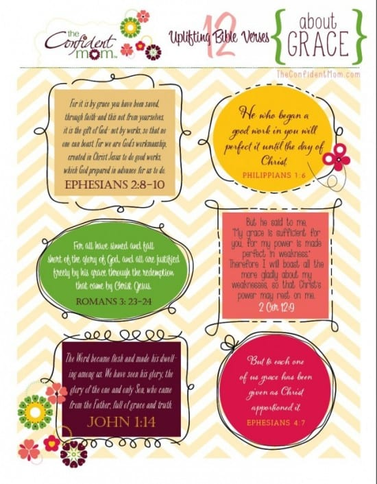 Bible verses on Grace