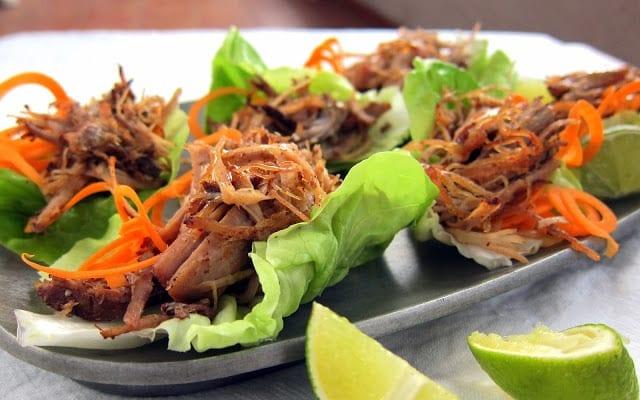 Pressure Cooker Pulled Pork Lettuce Wraps