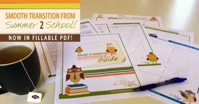 Get Ready for Back to School with The Confident Mom Back 2 School Survival Guide