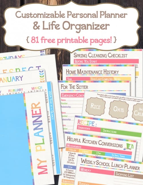 The Ultimate Customizable Personal Planner