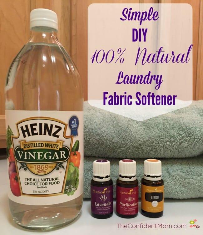 Simple DIY 100% Natural Laundry Fabric Softener