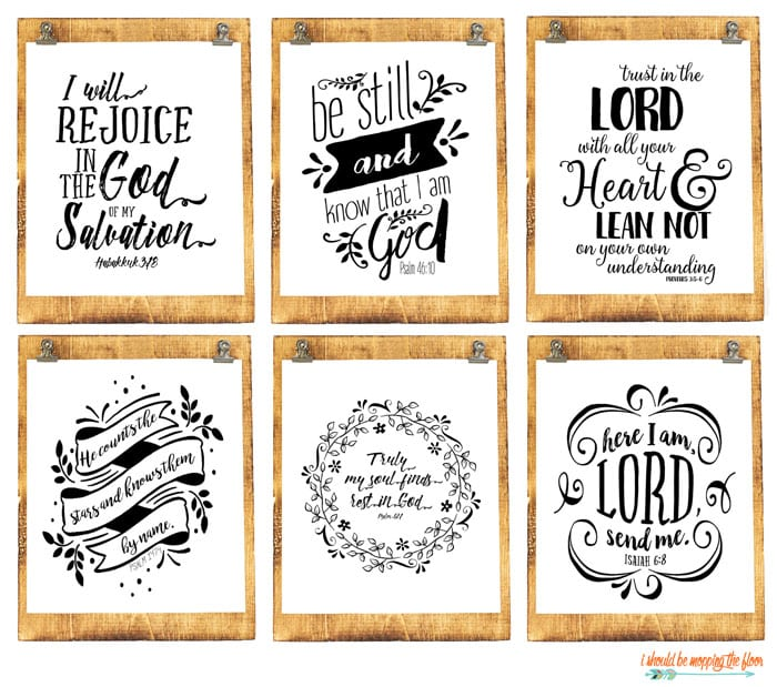 Six Beautiful Scripture Printables