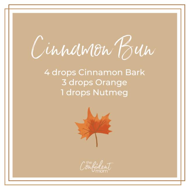 Cinnamon Bun Fall Essential Oil Diffuser Recipe