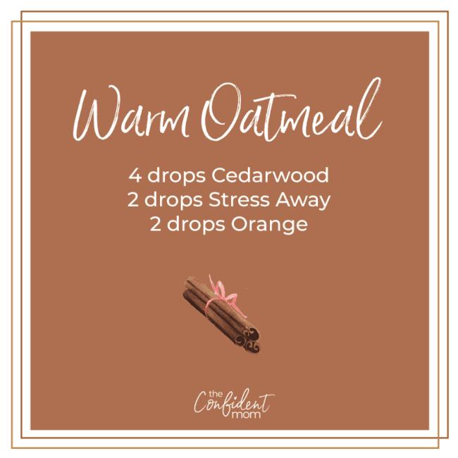 Warm Oatmeal Essential Oil Diffuser Recipe